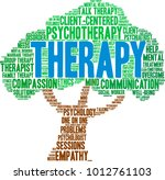 therapy word cloud on a white... | Shutterstock .eps vector #1012761103