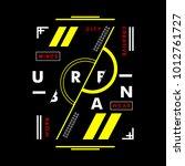 urban typography t shirt... | Shutterstock .eps vector #1012761727