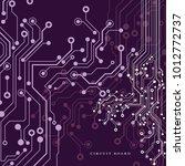 circuit board  technology...   Shutterstock .eps vector #1012772737