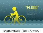 flood disaster of man icons... | Shutterstock .eps vector #1012774927