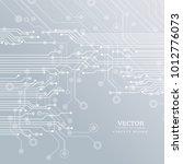circuit board  technology...   Shutterstock .eps vector #1012776073