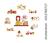 set decorator vector... | Shutterstock .eps vector #1012783717