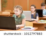 group of elementary school... | Shutterstock . vector #1012797883
