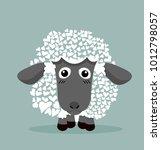 cute black sheep in heart shape | Shutterstock .eps vector #1012798057