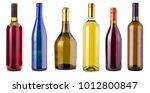 bottles of wine  isolated on... | Shutterstock . vector #1012800847