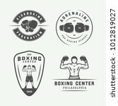 set of vintage boxing and... | Shutterstock .eps vector #1012819027