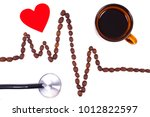 electrocardiogram line of... | Shutterstock . vector #1012822597