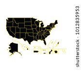 detailed map of united states... | Shutterstock .eps vector #1012835953