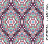 seamless pattern with ethnic... | Shutterstock .eps vector #1012844503