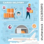 worldwide air delivery service... | Shutterstock .eps vector #1012850893