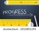 measuring progress or... | Shutterstock . vector #1012851193