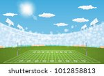 american football arena field... | Shutterstock .eps vector #1012858813