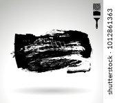 black brush stroke and texture. ... | Shutterstock .eps vector #1012861363