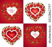 valentine's day greeting card... | Shutterstock .eps vector #1012862797