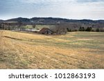 an old weathered barn and... | Shutterstock . vector #1012863193