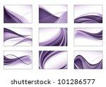 abstract vector background set. | Shutterstock .eps vector #101286577