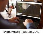 back view over the shoulder... | Shutterstock . vector #1012869643