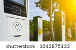 electric vehicle charging... | Shutterstock . vector #1012875133