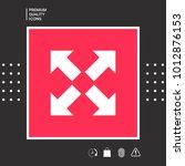 extend  resize icon. cross... | Shutterstock .eps vector #1012876153