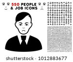 pitiful clerk icon with 550... | Shutterstock .eps vector #1012883677