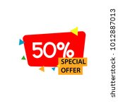 discount special offer label... | Shutterstock .eps vector #1012887013