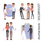 couple gets ready for big... | Shutterstock .eps vector #1012893157