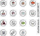 line vector icon set   suitcase ... | Shutterstock .eps vector #1012893877