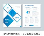 annual report  broshure  flyer  ... | Shutterstock .eps vector #1012894267