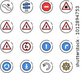 line vector icon set  ... | Shutterstock .eps vector #1012894753