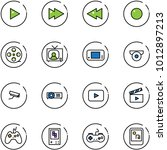 line vector icon set   play... | Shutterstock .eps vector #1012897213