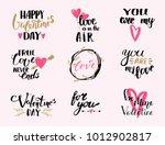 vector i love you text overlays ... | Shutterstock .eps vector #1012902817