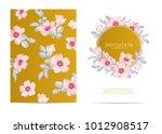 wedding invitation with wild... | Shutterstock .eps vector #1012908517