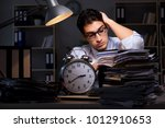 young businessman working... | Shutterstock . vector #1012910653