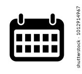 calendar icon for web  mobile.  ... | Shutterstock .eps vector #1012914967