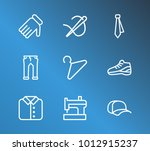cloth icon set and hanger with...