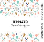 terrazzo card template. vector... | Shutterstock .eps vector #1012916803