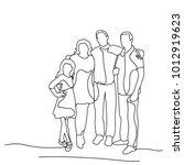 sketch family on white... | Shutterstock .eps vector #1012919623