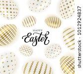 happy easter vector... | Shutterstock .eps vector #1012924837
