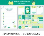 set of animals and cute vector... | Shutterstock .eps vector #1012930657