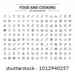 food and cooking minimalism... | Shutterstock .eps vector #1012940257