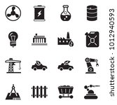 solid black vector icon set  ... | Shutterstock .eps vector #1012940593