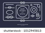 nautical rope knots and frames... | Shutterstock .eps vector #1012945813