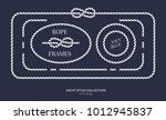 nautical rope knots and frames... | Shutterstock .eps vector #1012945837