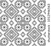 black and white seamless ethnic ... | Shutterstock .eps vector #1012946563