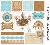 scrapbook design elements  ...   Shutterstock .eps vector #101295163