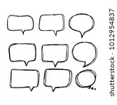 speech bubble icon hand drawn | Shutterstock .eps vector #1012954837