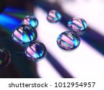 Compact Disc With Water Drops...