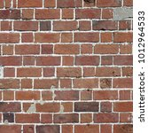 Small photo of Old Dark, Brown Tone Brick Wall Texture. Strong Brickwork Seamless. Shabby Building Façade. Perfect Stonework Backdrop.