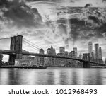 black and white view of... | Shutterstock . vector #1012968493