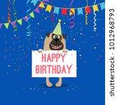 happy birthday greeting card... | Shutterstock .eps vector #1012968793